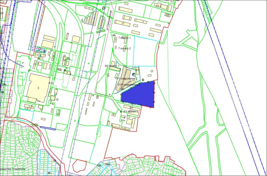 Схема расположения земельного участка площадью 3,5976 га по адресу: ул. Приграничная, Первомайский район