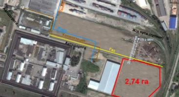Расположение коммуникаций на земельном участке  2,74 Га ул. Тайгинская Богдана Хмельницкого Калининский район