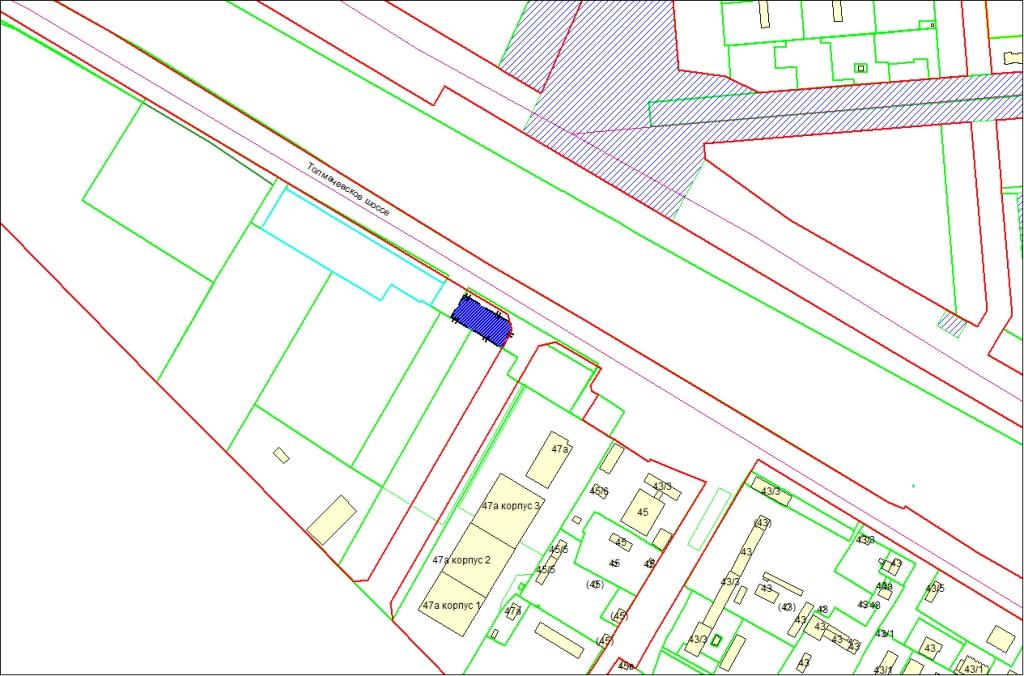 Схема расположения земельного участка по адресу: Толмачевское шоссе, 49а, Ленинский район
