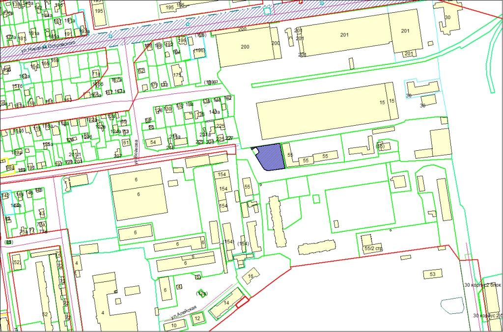 Схема расположения земельного участка по адресу: ул. Планетная, 59, Дзержинский район