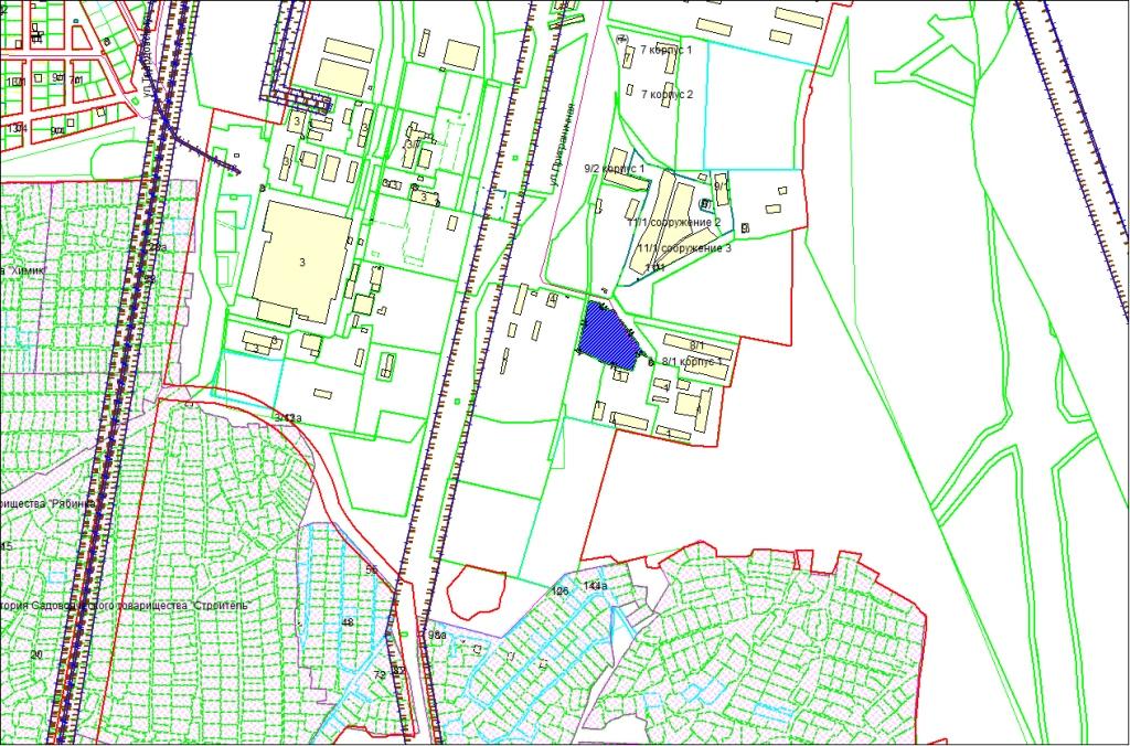 Схема расположения земельного участка площадью 0,8565 га по адресу: ул. Приграничная, Первомайский район