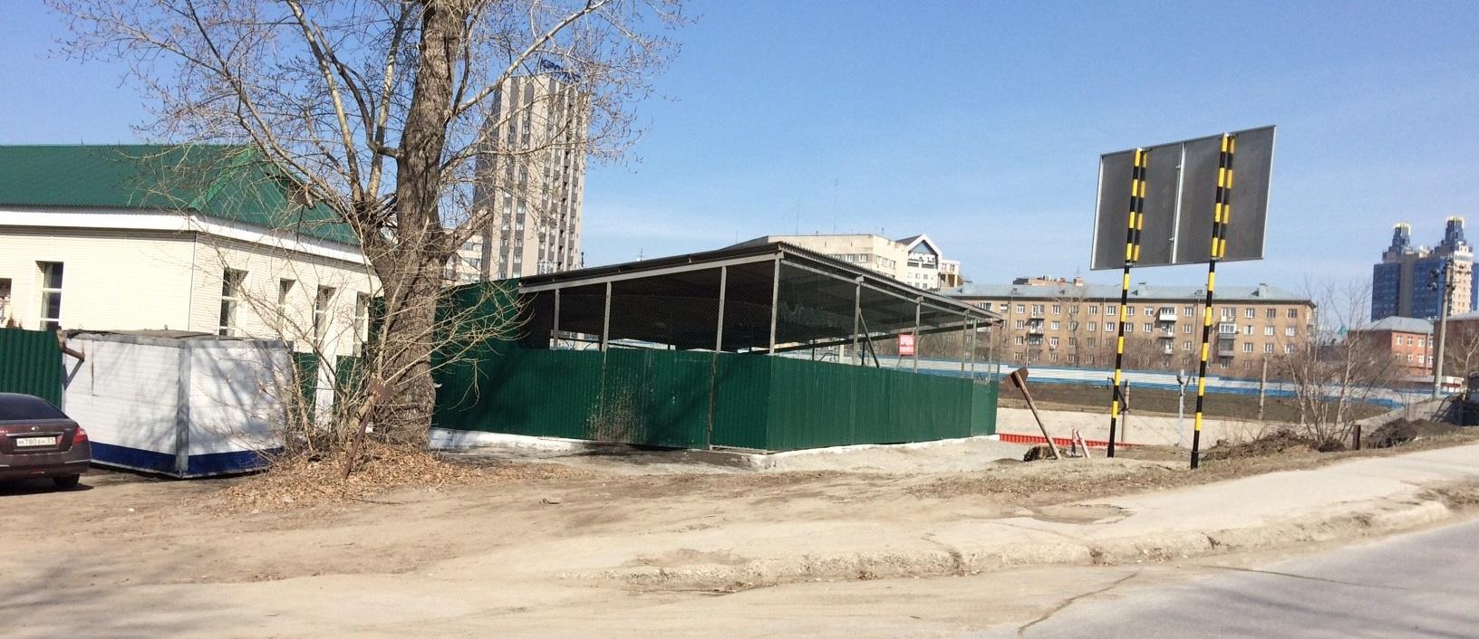 Земельный участок 0,10 га в Железнодорожном районе, ул. Спартака под строительство автостоянки закрытого типа