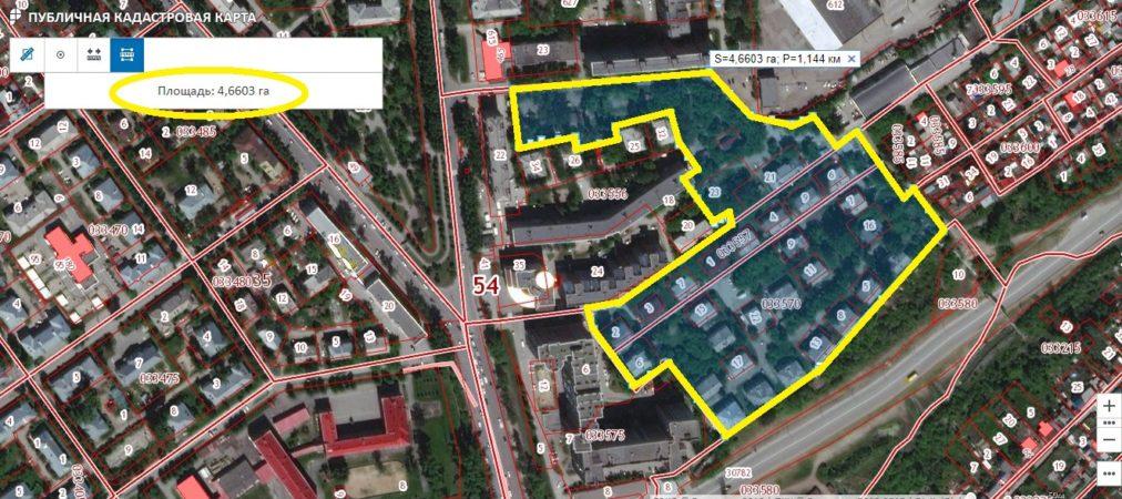 Земельный участок 4,66 Га ул. Георгия Колонды Шевцовой 1-я и 2-я Заельцовский район