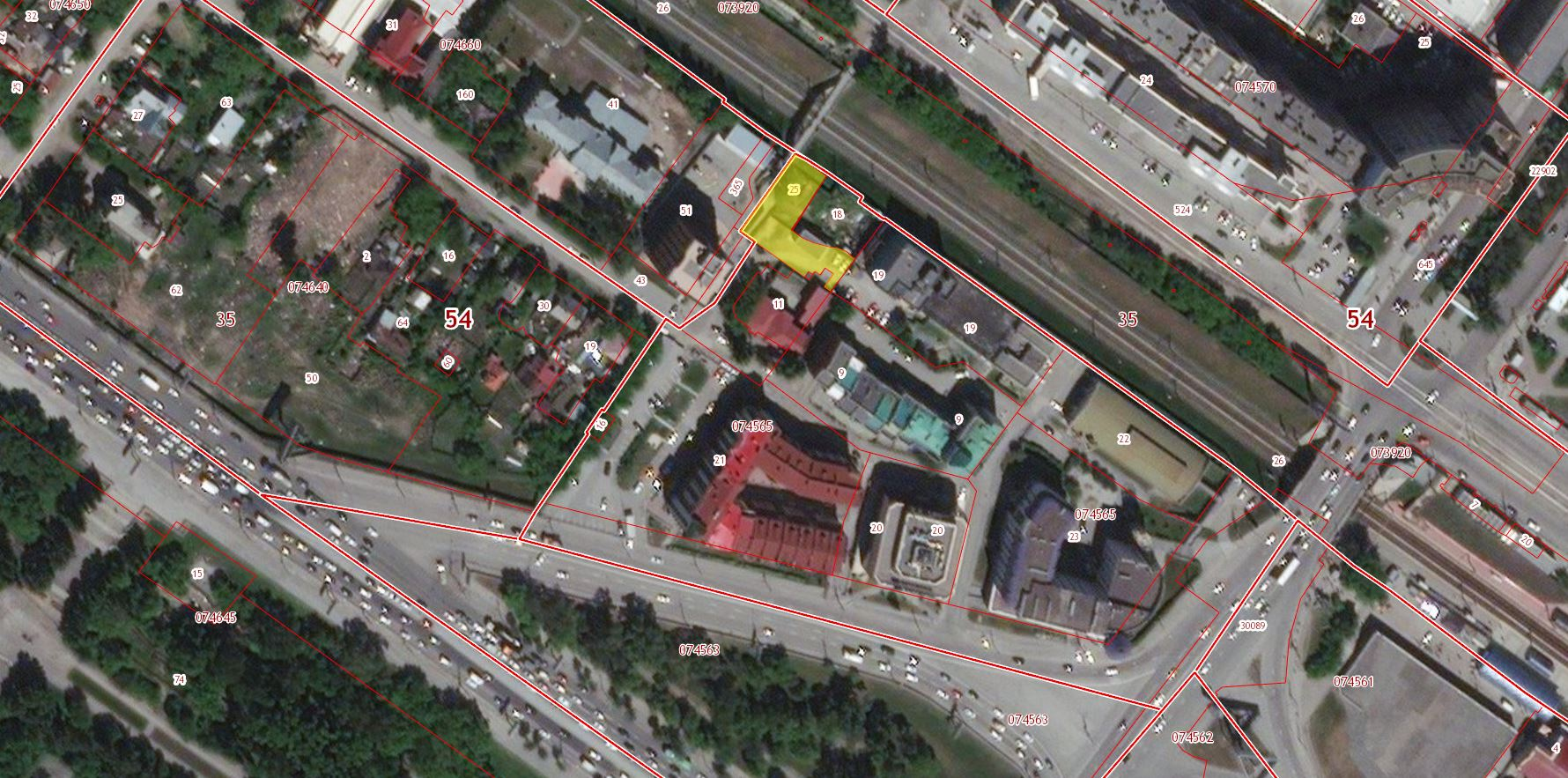 54:35:074565:25 обл. Новосибирская, г. Новосибирск, ул. Инская