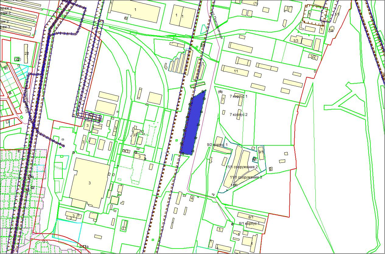 Схема расположения земельного участка площадью 1,4982 га по адресу: ул. Приграничная, Первомайский район
