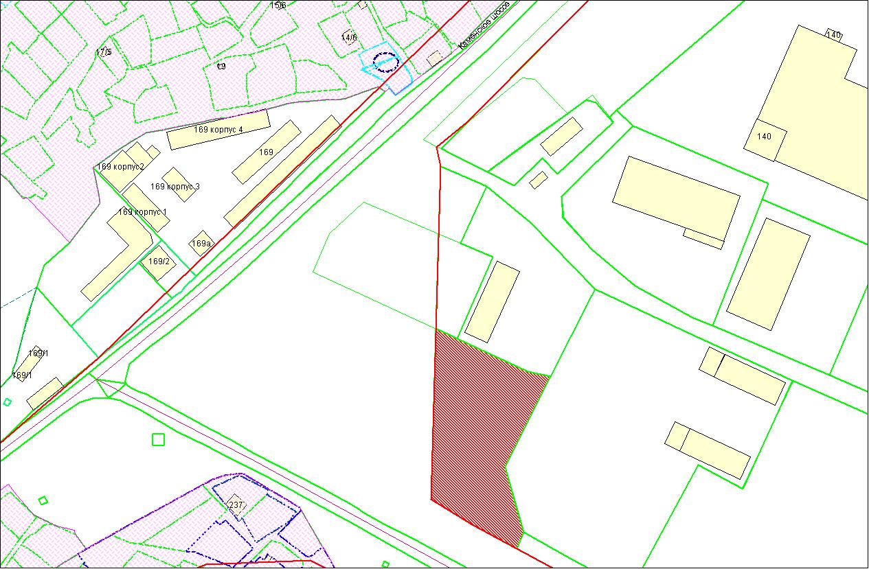 Схема расположения земельного участка по адресу: ул. Полякова, Дзержинский район