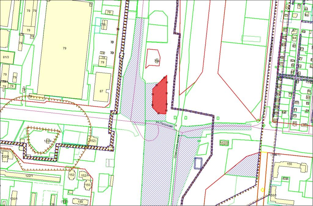 Схема расположения земельного участка по адресу: ул. Петухова, з/у 89, Кировский район