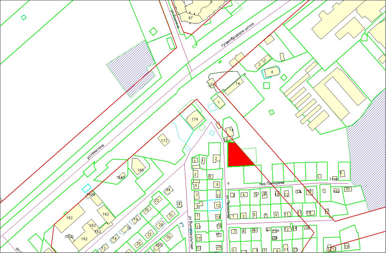 Схема расположения земельного участка по адресу: ул. Панишева, 1, Октябрьский район