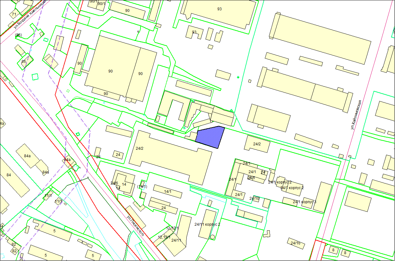 Схема расположения земельного участка по адресу: ул. Писемского, Калининский район