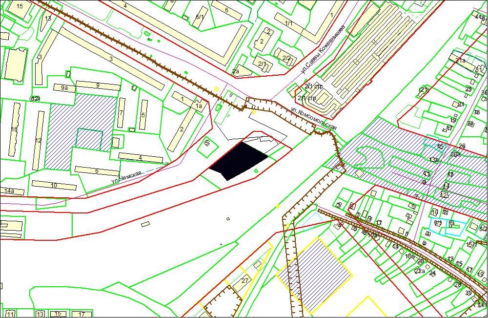 Схема расположения земельного участка по адресу: ул. Чемская, 1, Кировский район