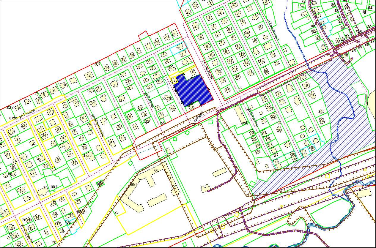 Схема расположения земельного участка по адресу: ул. Победы, 50, Заельцовский район