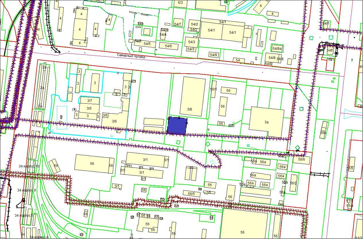 Схема расположения земельного участка по адресу: Северный проезд, з/у 3/9, Кировский район