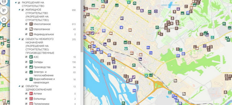 Все строящиеся объекты в Новосибирске и информация о них теперь на карте