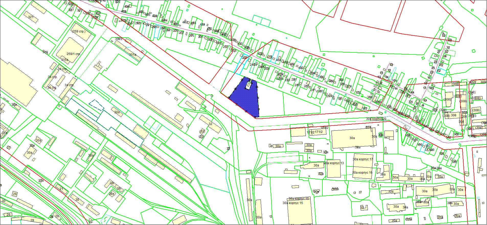Схема расположения земельного участка по адресу: ул. Большая, Ленинский район