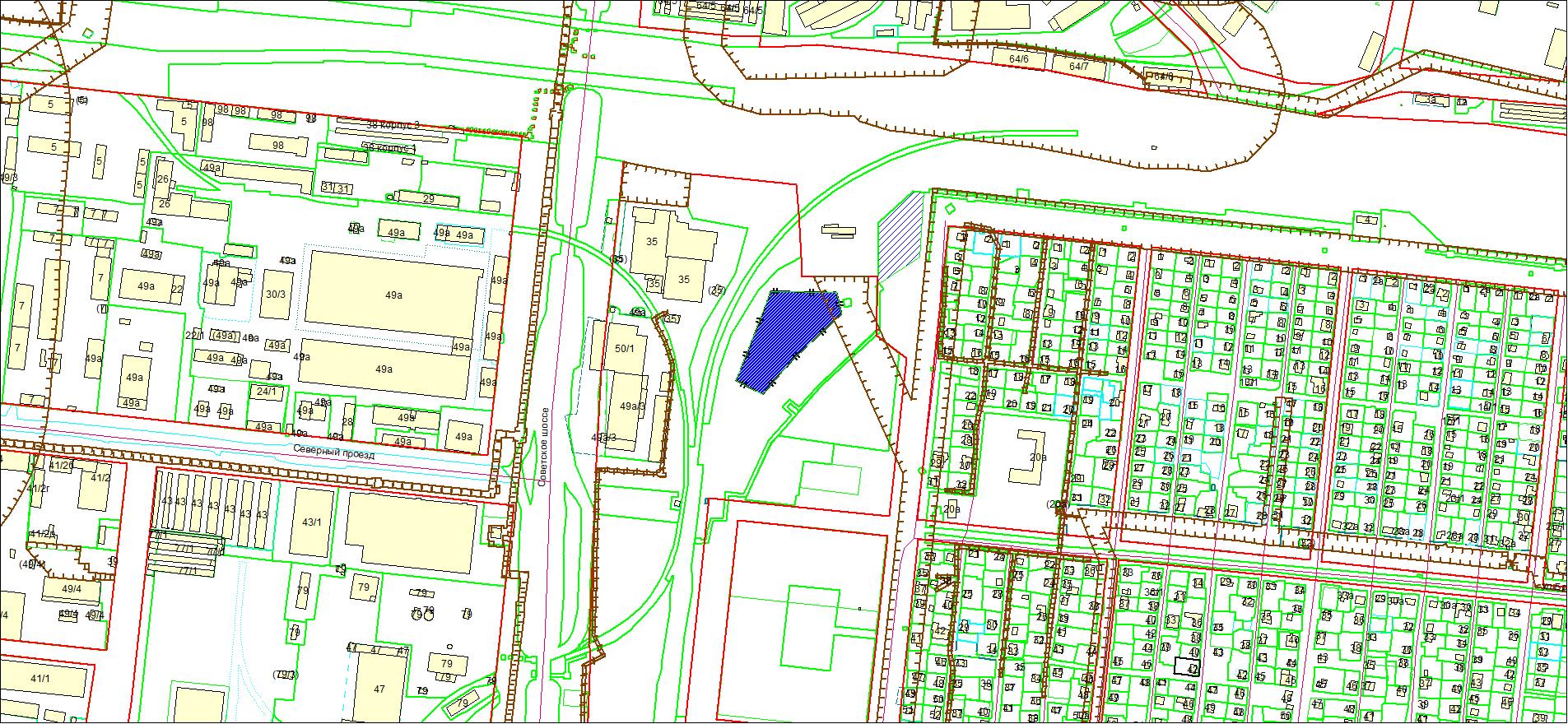 Схема расположения земельного участка по адресу: пер. 18-й Бронный, Кировский район