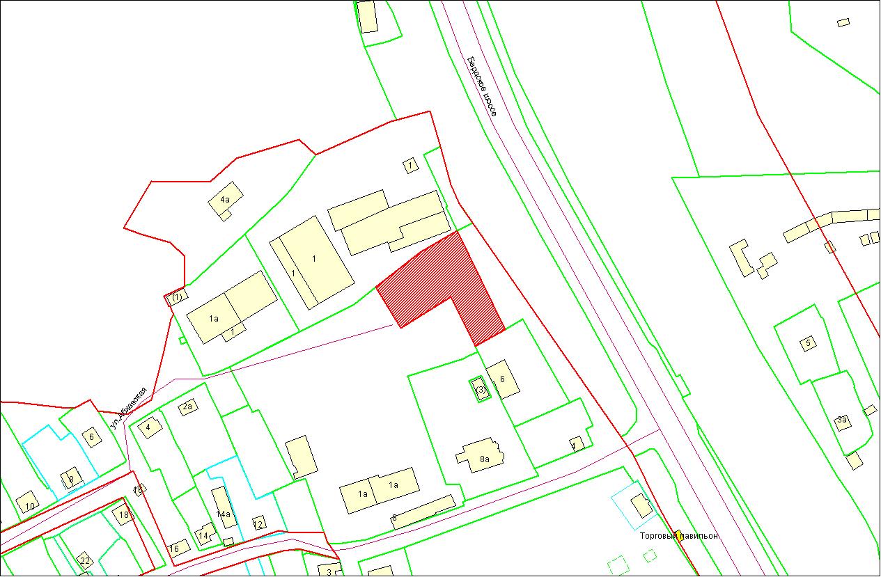 Схема расположения земельного участка по адресу: Бердское шоссе, Советский район