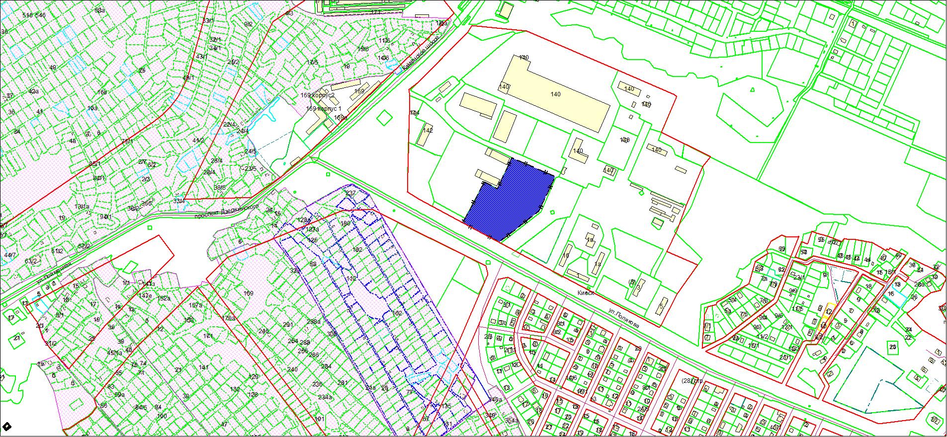 Схема расположения земельного участка по адресу: ул. Полякова, з/у 1/3, Дзержинский район