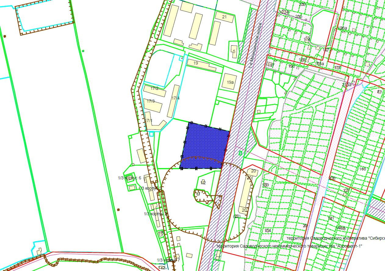 Схема расположения земельного участка по адресу: 1-е Мочищенское шоссе, 15, Заельцовский район