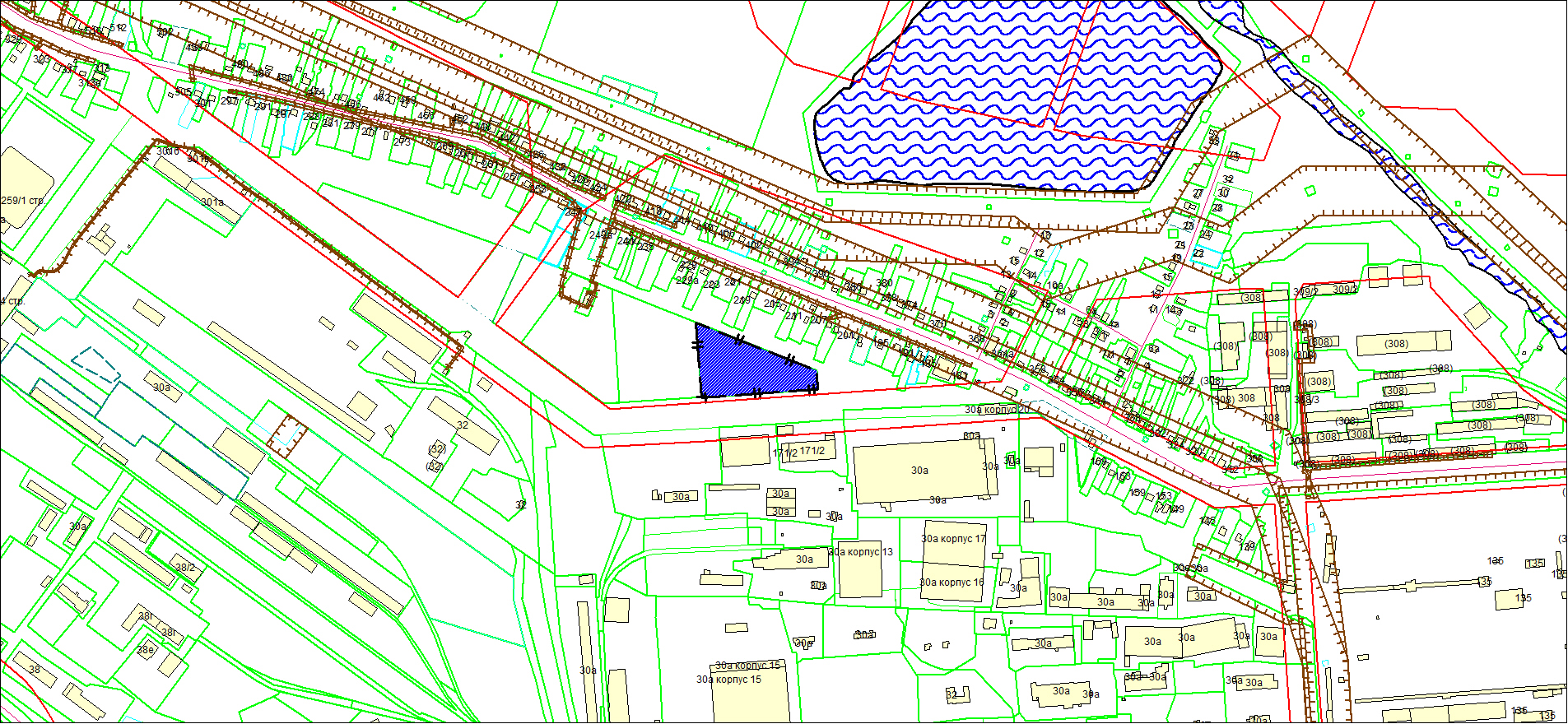 Схема расположения земельного участка площадью 9123 кв. м по адресу: ул. Большая, Ленинский район