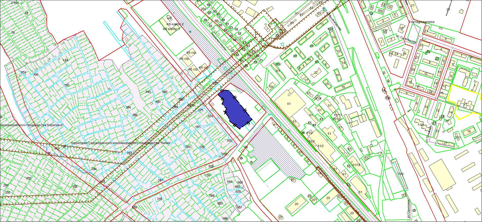 Схема расположения земельного участка площадью 10688 кв. м по адресу: Бердское шоссе, з/у 4б, Первомайский район