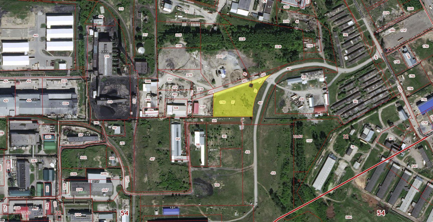 Земельный участок с кадастровым номером 54:32:010659:1150, с местоположением: Новосибирская область, г. Бердск, в районе улицы Промышленная, с разрешенным использованием: для производственной деятельности. Неразграниченная государственная собственность. Площадь 10135,0 кв. м.
