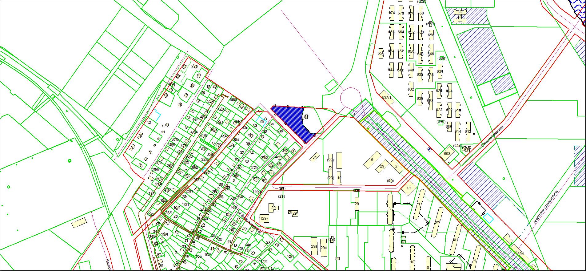 Схема расположения земельного участка по адресу: пер. 2-й Экскаваторный, Ленинский район