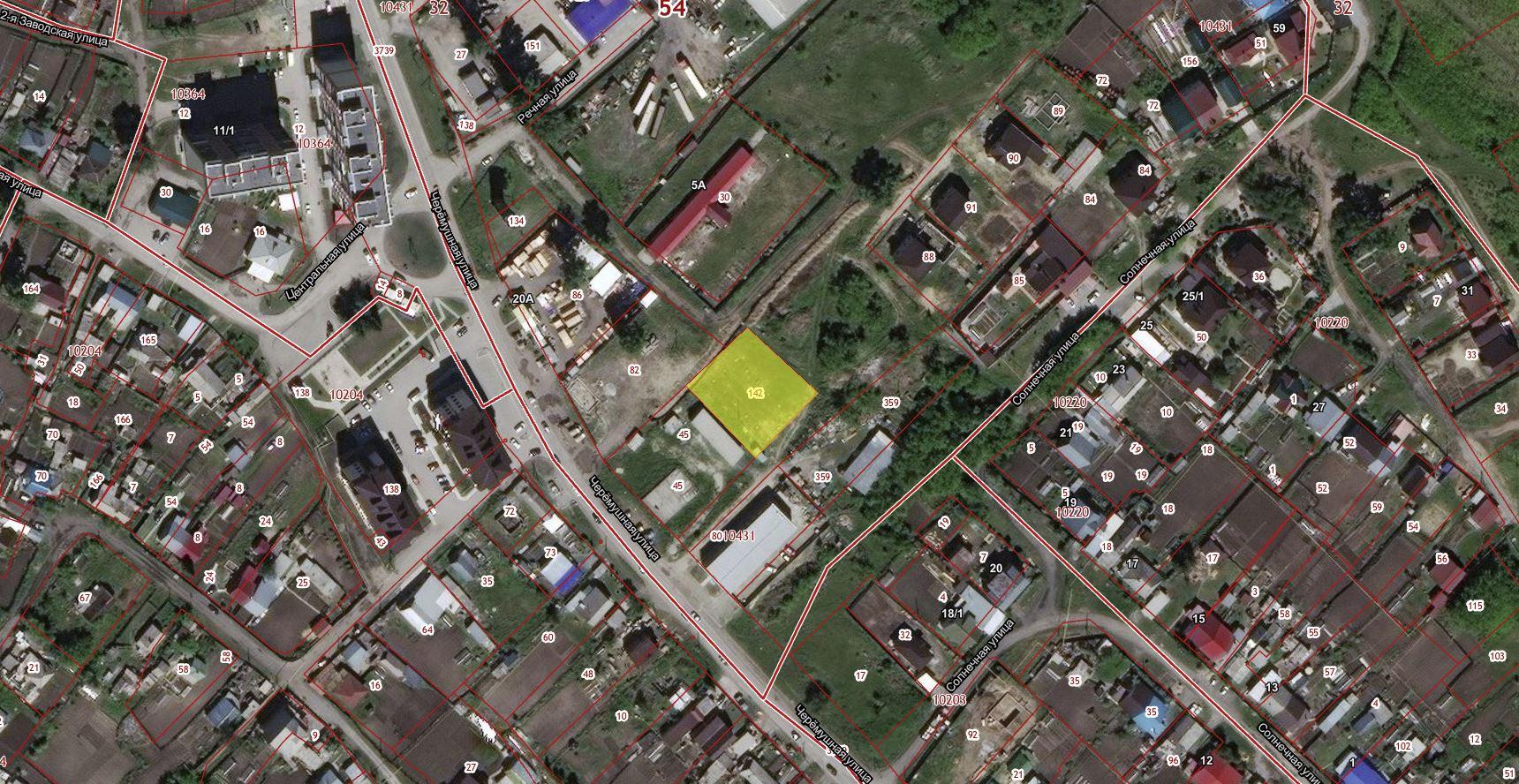 Земельный участок с кадастровым номером 54:32:010431:142, с местоположением: Новосибирская область, г. Бердск, в районе улицы Солнечная, 1а, с разрешенным использованием: склады. Неразграниченная государственная собственность. Площадь 1303,0 кв. м.
