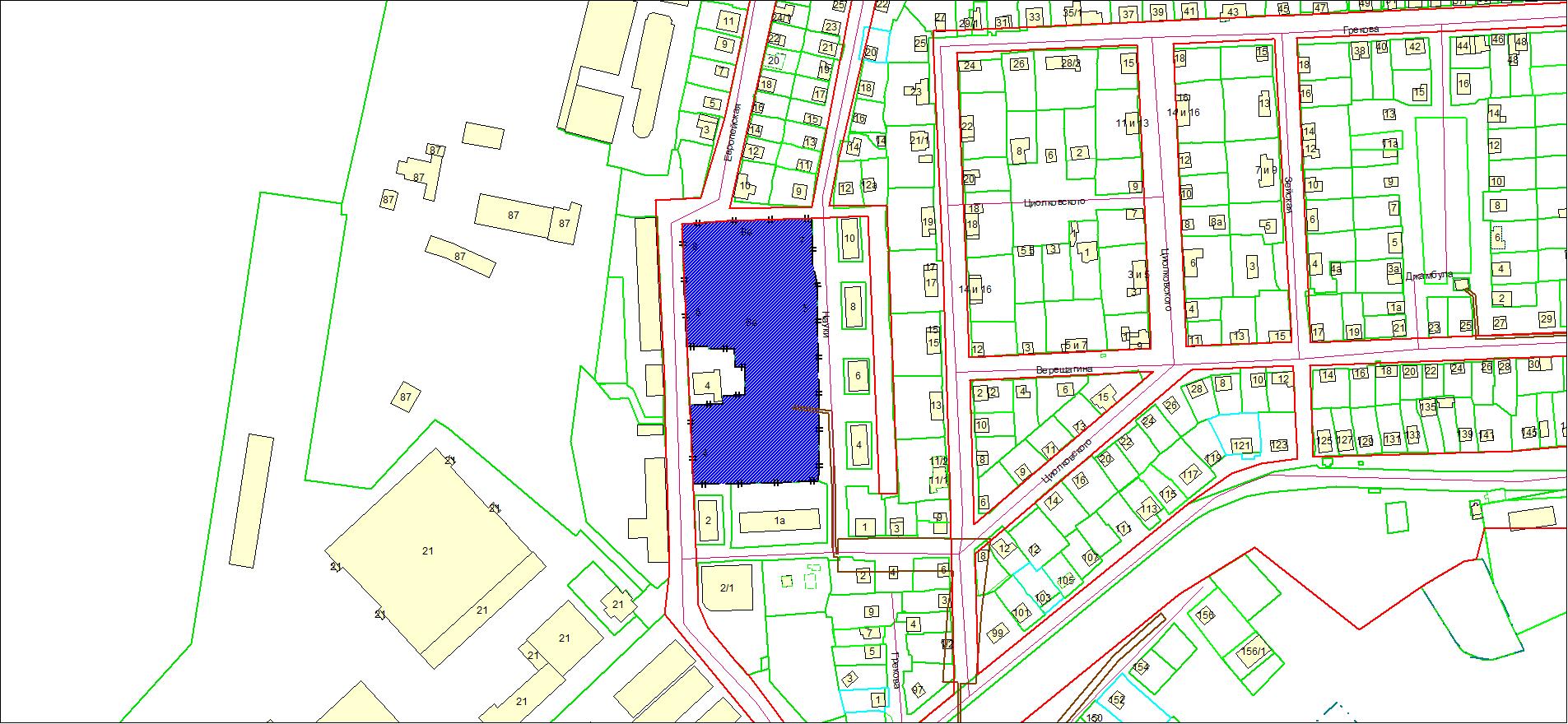 Схема расположения земельного участка по адресу: ул. Европейская, з/у 4/1, Дзержинский район