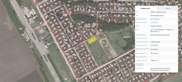 14 апреля 2021 года аукцион на право аренды земельного участка в Бердске НСО