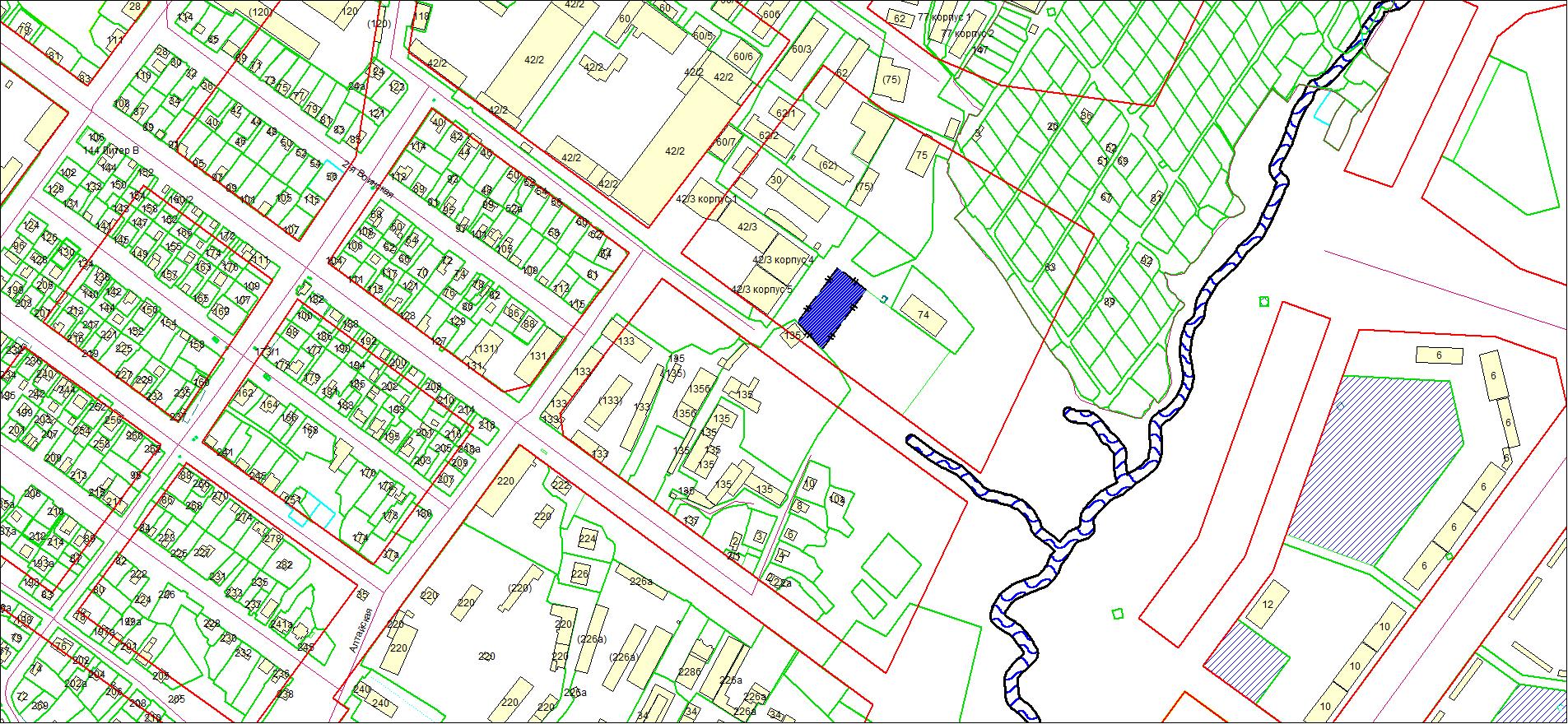 Схема расположения земельного участка площадью 2362 кв. м по адресу: проезд 2-й Воинский, Октябрьский район