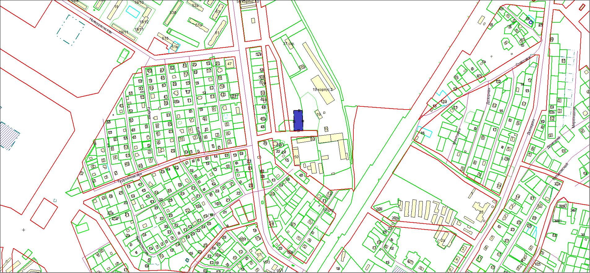 Схема расположения земельного участка площадью 2063 кв. м по адресу: ул. Томская, Калининский район