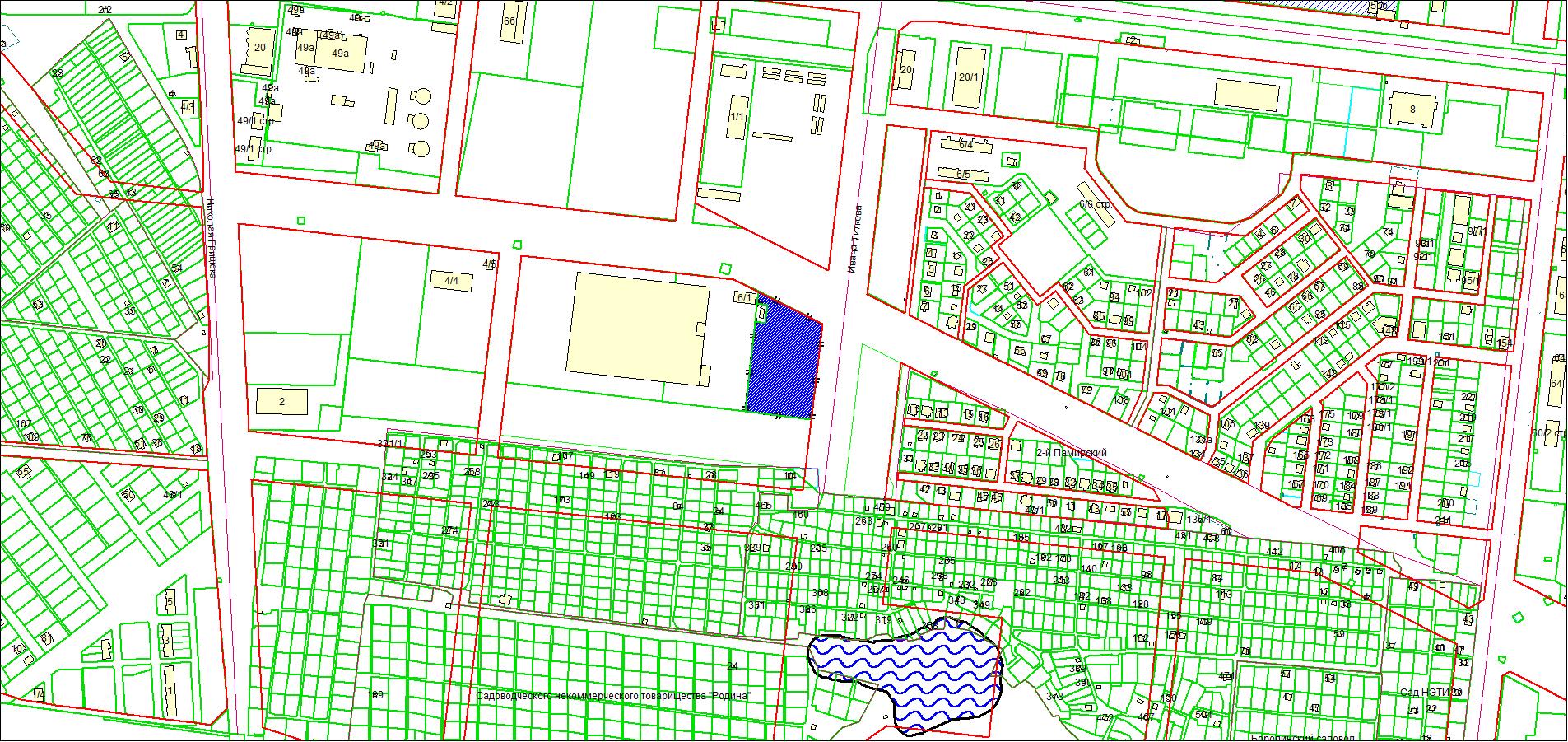 Схема расположения земельного участка по адресу: ул. Петухова, Кировский район