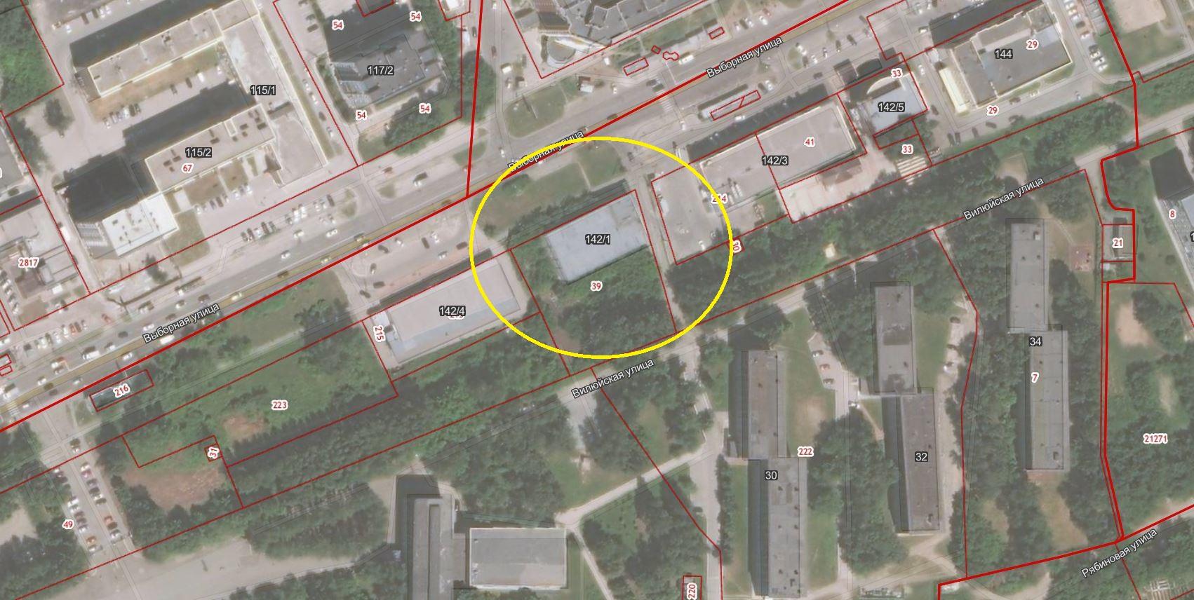 Первый лот – здание по улице Выборная, 142/1 в Октябрьском районе
