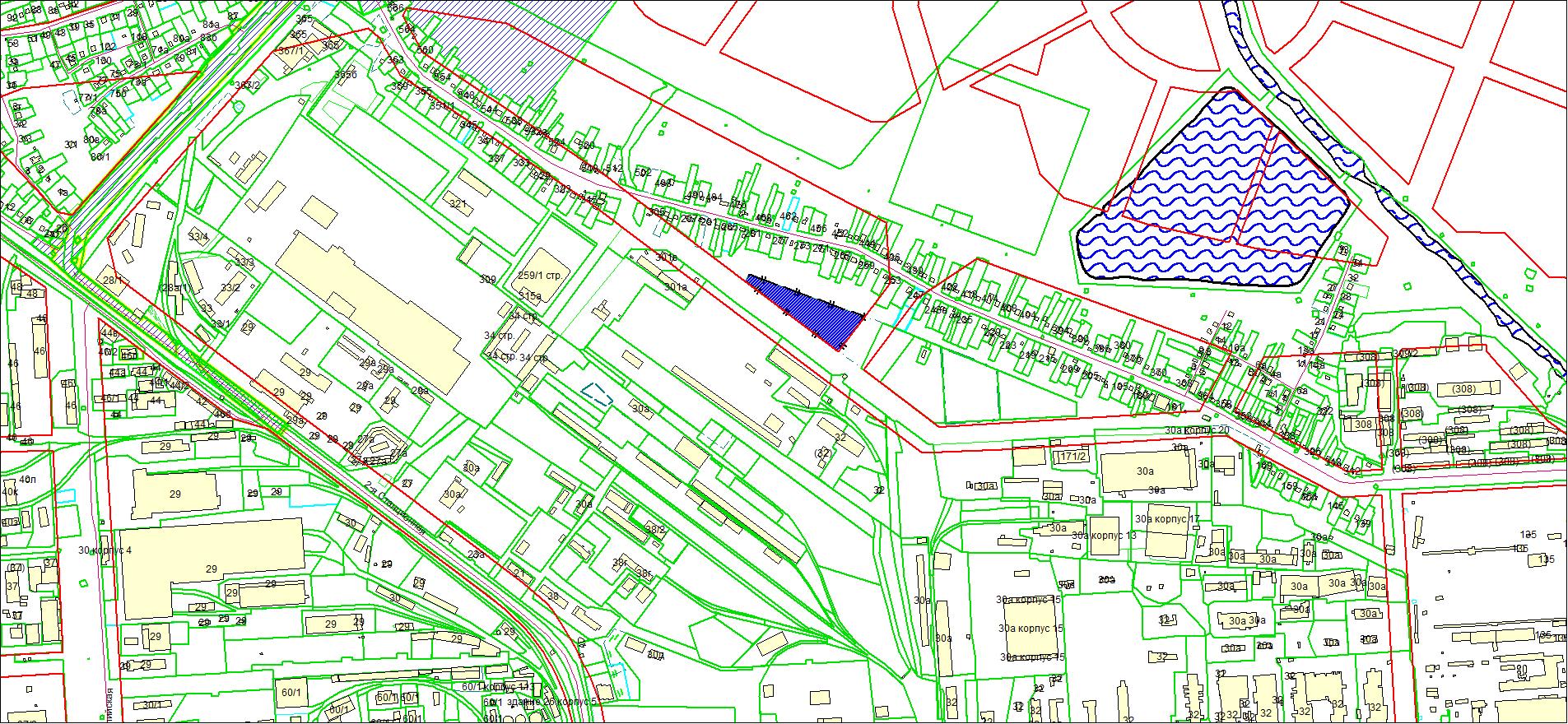 Схема расположения земельного участка площадью 11224 кв. м по адресу: ул. Большая, Ленинский район