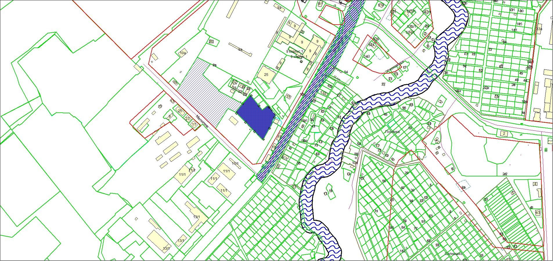Схема расположения земельного участка по адресу: ул. Хилокская, з/у 23, Ленинский район