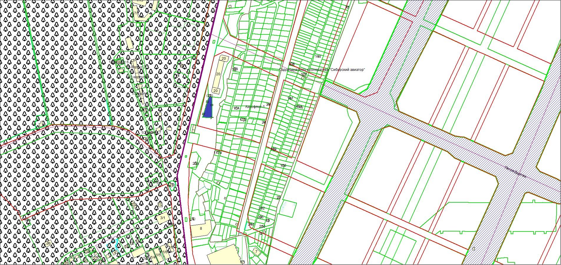 Схема расположения земельного участка по адресу: Мочищенское шоссе, Заельцовский район