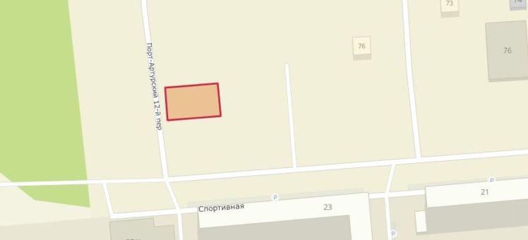 Земельный участок 555 кв.м пер. 12-й Порт-Артурский Спортивная Ленинский район