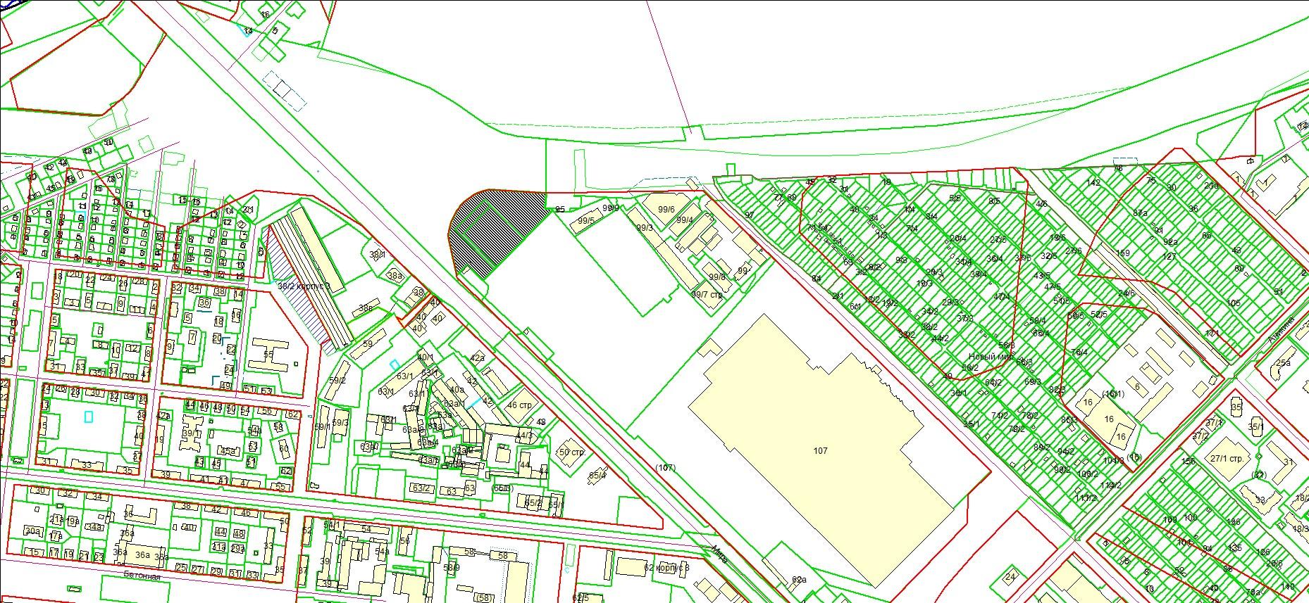 Схема расположения земельного участка по адресу: ул. Ватутина, з/у 103/1, Кировский район