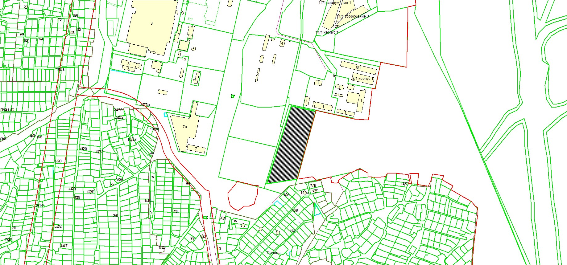 Схема расположения земельного участка по адресу: ул. Твардовского, з/у 1а, Первомайский район