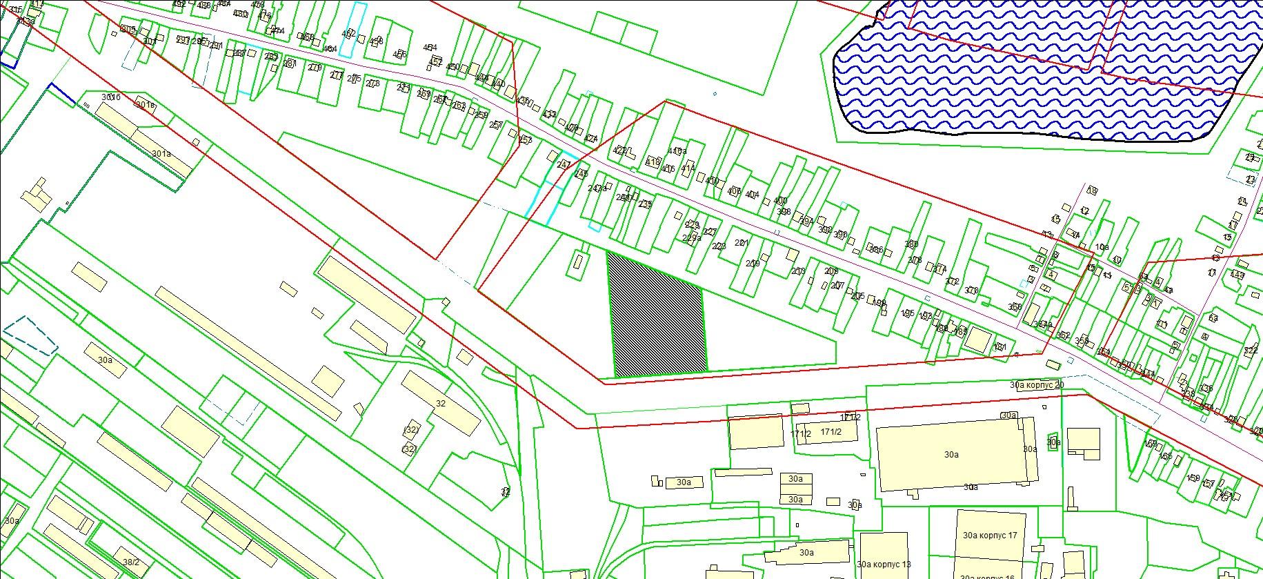 Схема расположения земельного участка по адресу: ул. Большая, з/у 237/1, Ленинский район