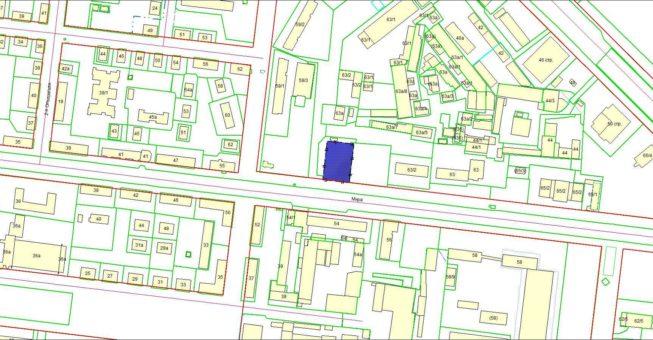Схема расположения земельного участка, на котором расположен объект незавершенного строительства по ул. Мира, 63а в Кировском районе