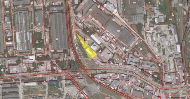 Схема расположения земельного участка, на котором расположен объект незавершенного строительства по ул. Станционной, 64/2 стр. в Ленинском районе